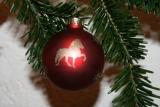 Weihnachtskugel Glas Islandpferd