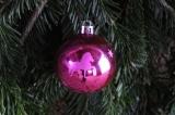 Weihnachtskugel Islandpferd Sonderedition Pink